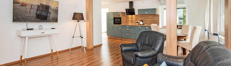 Wohnzimmer Ferienhaus Ingrid Micael Wilke